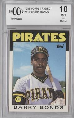1986 Topps Traded #11T - Barry Bonds [ENCASED]