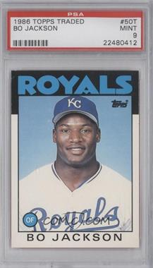 1986 Topps Traded #50T - Bo Jackson [PSA9]