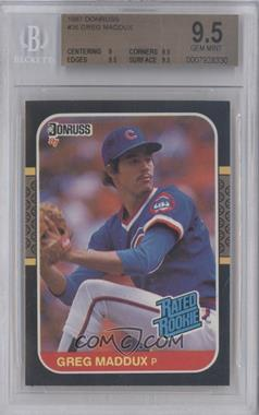 1987 Donruss - [Base] #36 - Greg Maddux [BGS 9.5]