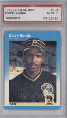 1987 Fleer - [Base] - Factory Set Glossy #604 - Barry Bonds [PSA 9]