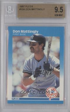 1987 Fleer - [Base] #104 - Don Mattingly [BGS9.5]