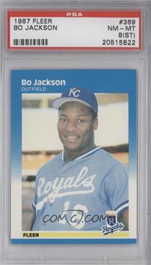 1987 Fleer - [Base] #369 - Bo Jackson [PSA8(ST)]