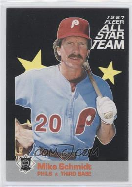 1987 Fleer All Star Team #6 - Mike Schmidt