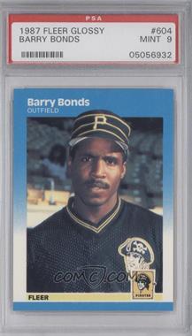 1987 Fleer Factory Set [Base] Glossy #604 - Barry Bonds [PSA9]