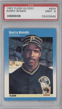 1987 Fleer Factory Set Glossy #604 - Barry Bonds [PSA9]