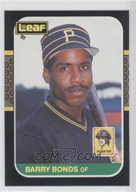 1987 Leaf Canadian #219 - Barry Bonds