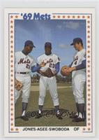 New York Mets Team, Cleon Jones, Tommie Agee, Ron Swoboda