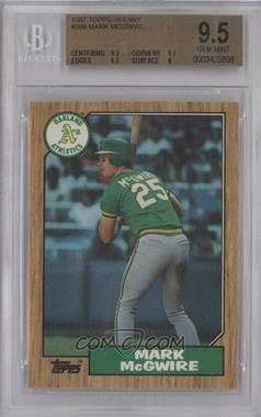 1987 Topps Box Set Collector's Edition (Tiffany) #366 - Mark McGwire [BGS 9.5]