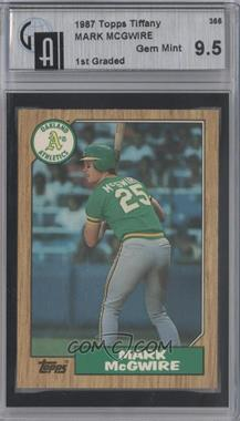 1987 Topps Collector's Edition (Tiffany) #366 - Mark McGwire [GAI 9.5]