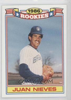 1987 Topps Jumbo Pack Glossy Rookies #11 - Juan Nieves