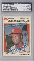 Lou Brock [PSA/DNA Certified Auto]
