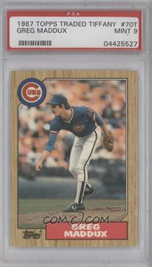 1987 Topps Traded Tiffany #70T - Greg Maddux [PSA 9]