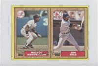 Rickey Henderson, Jim Rice