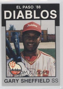 1988 Best El Paso Diablos Platinum #1 - Gary Sheffield