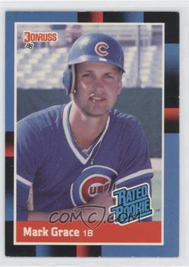 1988 Donruss #40 - Rated Rookie - Mark Grace