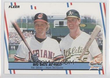 1988 Fleer Glossy #633 - Pat Tabler, Mark McGwire