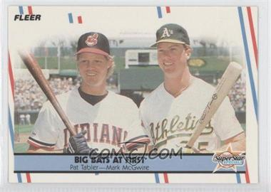 1988 Fleer Glossy #633 - Pat Tabler, Mark McGwire