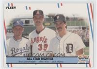 Bret Saberhagen, Mike Witt, Jack Morris