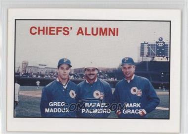 1988 Kodak Peoria Chiefs #MPG - Greg Maddux, Rafael Palmeiro, Mark Grace