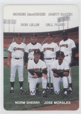 1988 Mother's Cookies San Francisco Giants Stadium Giveaway [Base] #27 - Dusty Baker, Norm Sherry, Bill Faul, Bob Link, Gordy MacKenzie, Nobutoshi Shimada