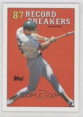 1988 Topps - [Base] #3.1 - '87 Record Breakers - Mark McGwire