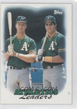 1988 Topps - [Base] #759 - 1987 Team Leaders - Oakland Athletics