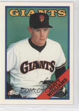 1988 Topps Box Set Collector's Edition (Tiffany) #372 - Matt Williams