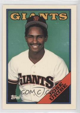 1988 Topps Collector's Edition (Tiffany) #302 - Jose Uribe