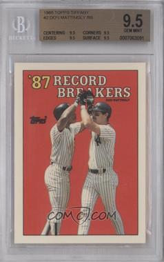 1988 Topps #2 - '87 Record Breakers - Don Mattingly [BGS 9.5]