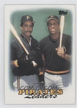 1988 Topps #231 - Pittsburgh Pirates Team, Barry Bonds