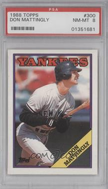1988 Topps #300 - Don Mattingly [PSA 8]