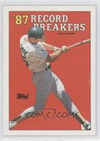 '87 Record Breakers - Mark McGwire (Area of white behind left heel)