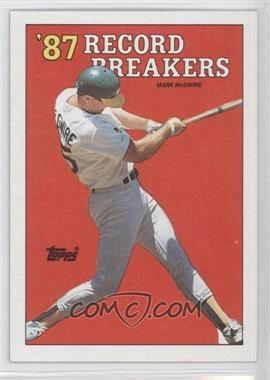 1988 Topps #3.1 - Mark McGwire (Area of white behind left heel)