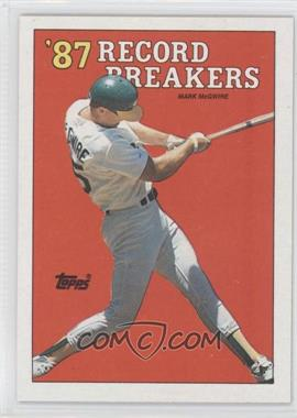 1988 Topps #3.2 - '87 Record Breakers - Mark McGwire