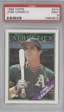 1988 Topps #370 - Jose Canseco [PSA 9]
