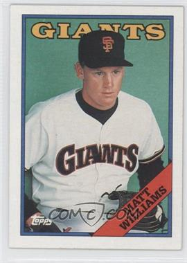 1988 Topps #372 - Matt Williams