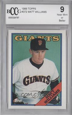 1988 Topps #372 - Matt Williams [ENCASED]