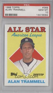 1988 Topps #389 - All Star - Alan Trammell [PSA 10]