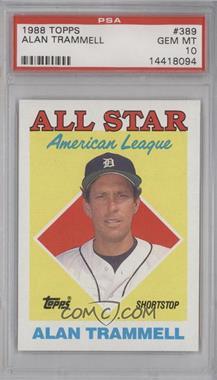 1988 Topps #389 - All Star - Alan Trammell [PSA10]