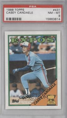1988 Topps #431 - Topps All-Star Rookie - Casey Candaele [PSA 8]