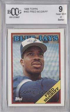 1988 Topps #463 - Fred McGriff [ENCASED]