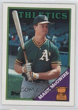 1988 Topps #580 - Topps All-Star Rookie - Mark McGwire