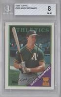 Topps All-Star Rookie - Mark McGwire [BGS 8]