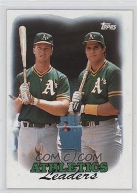 1988 Topps #759 - 1987 Team Leaders - Oakland Athletics