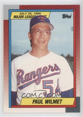 1989-90 Topps Major League Debut 1989 Box Set [Base] #145 - Paul Wilmet