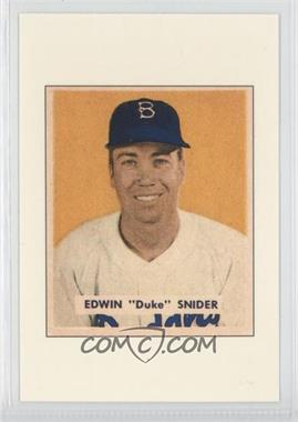 1989 Bowman Replicas Collector's Edition (Tiffany) #DUSN - Duke Snider
