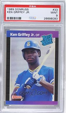 1989 Donruss - [Base] #33 - Ken Griffey Jr. [PSA9]