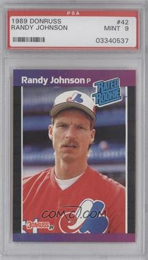 1989 Donruss - [Base] #42 - Randy Johnson [PSA 9]