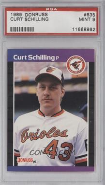 1989 Donruss - [Base] #635 - Curt Schilling [PSA9]