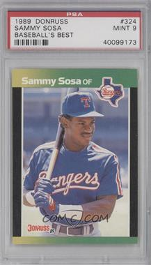 1989 Donruss Baseball's Best Box Set [Base] #324 - Sammy Sosa [PSA 9]